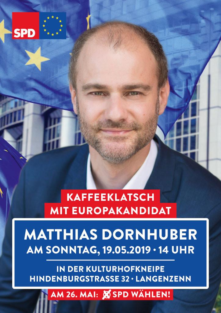 Kaffeeklatsch mit Europakandidat Matthias Dornhuber